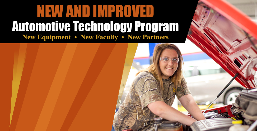 New and improved automotive technology program. New equipment, new faculty, new partners.