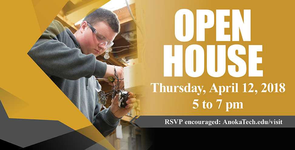 Join us for our Open House, Thursday, April 12 to tour the college, visit with faculty and Admissions staff and learn about our in-demand programs.
